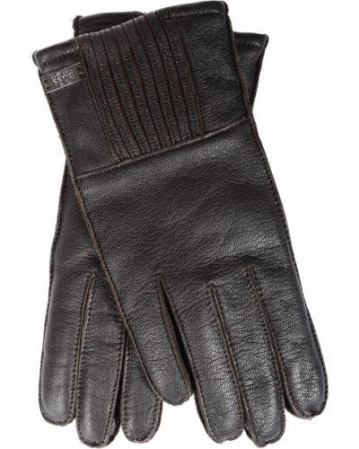 Кожаные перчатки Hugo Boss