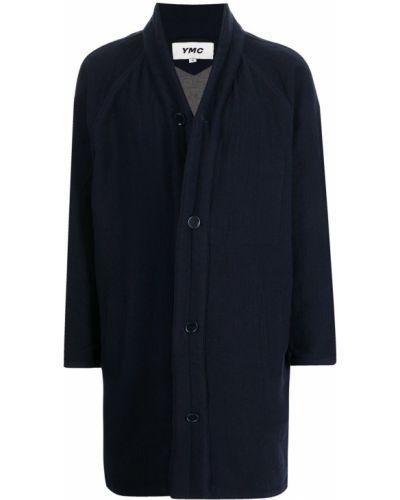 Niebieski płaszcz wełniany Ymc