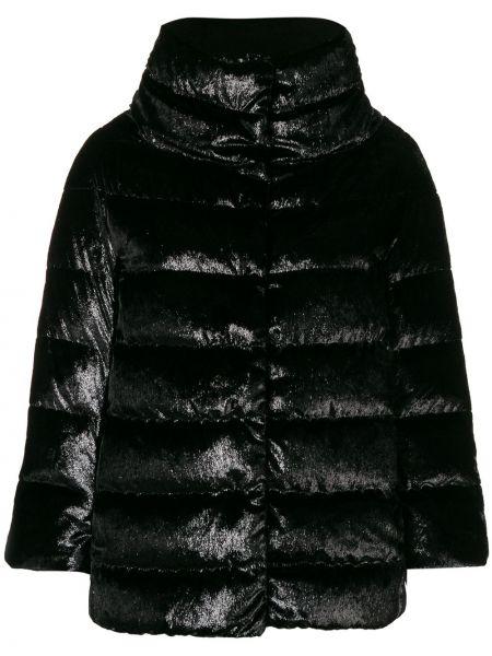 Куртка черная бархатная Herno