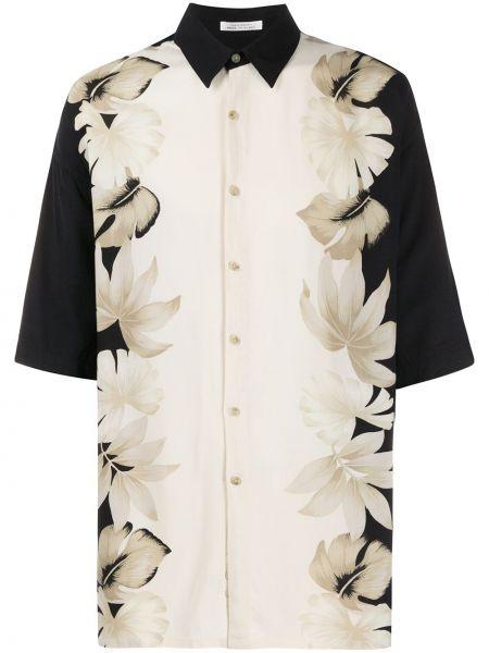 Черная прямая рубашка с короткими рукавами с воротником на пуговицах Pierre Cardin Pre-owned