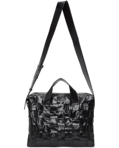 Черный кожаный портфель двусторонний Bottega Veneta