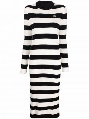 Платье макси с длинными рукавами - белое Lacoste
