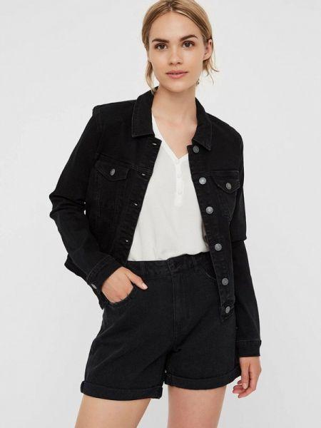 Джинсовая куртка черная весенняя Vero Moda