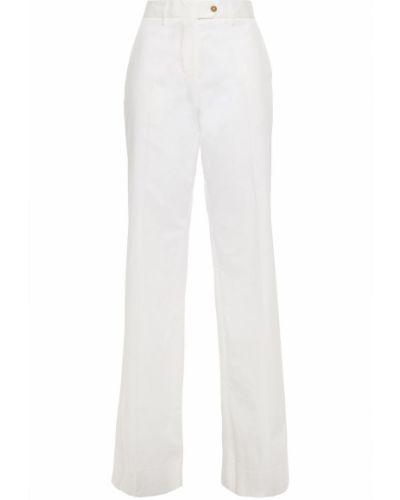 Расклешенные белые брюки с карманами Paul Smith