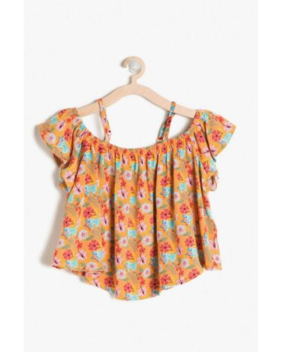 Оранжевая блузка Koton