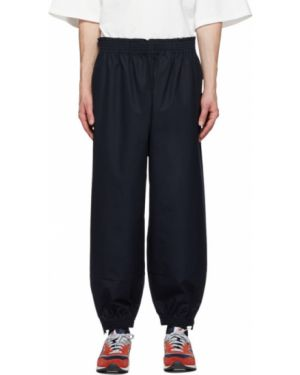Хлопковые серебряные спортивные брюки с манжетами с карманами Camiel Fortgens