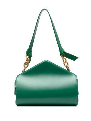 Зеленая кожаная сумка с карманами Bottega Veneta