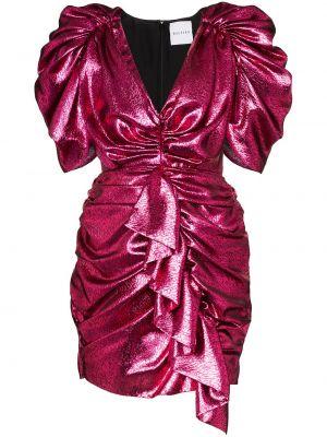 Różowa sukienka wieczorowa z cekinami bawełniana Halpern