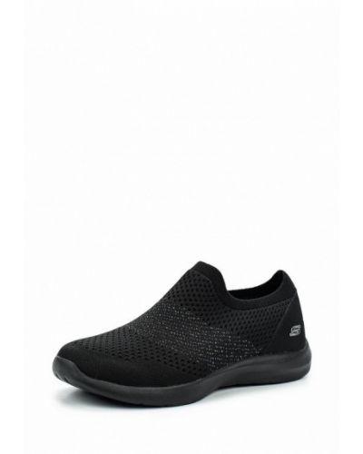 Черные слипоны Skechers