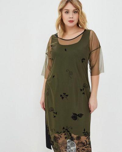 Вечернее платье итальянский зеленый Over