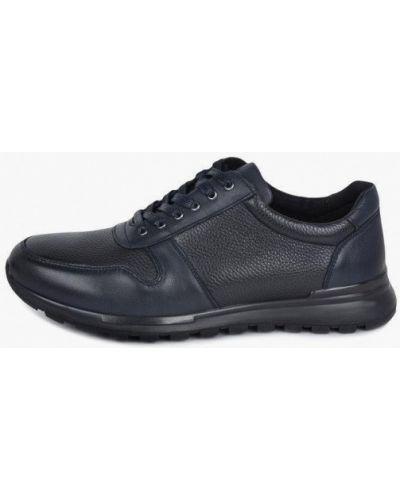 Синие кожаные ботинки Kari