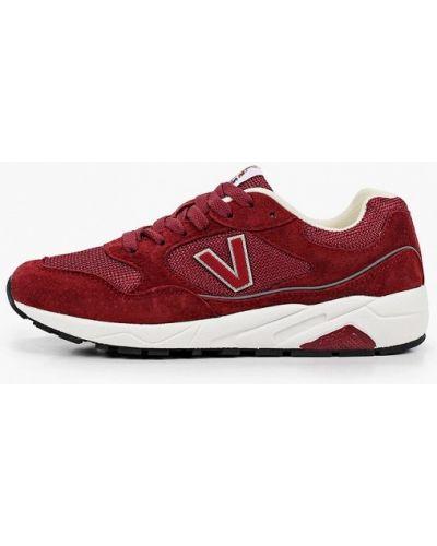 Красные кожаные кроссовки Escan