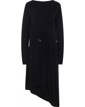 Шерстяное платье макси - черное Roque