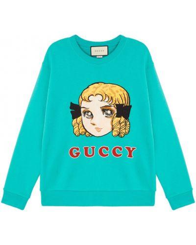 Худи с надписью с принтом Gucci