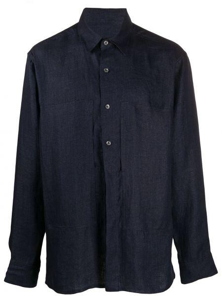 Koszula z długim rękawem klasyczna z kieszeniami Ann Demeulemeester