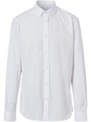 Bawełna z rękawami koszula z haftem Burberry