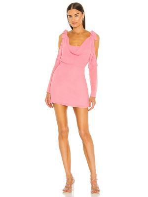 Розовое платье мини с подкладкой на молнии Majorelle