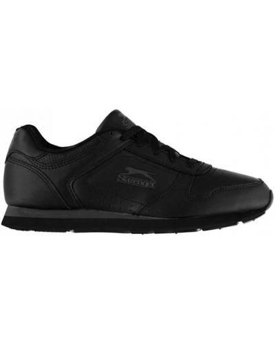 Кожаные кроссовки для бега - черные Slazenger