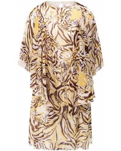Платье мини с поясом шелковое See By Chloe