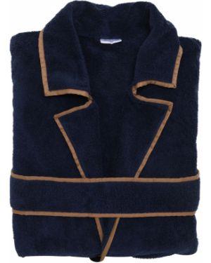 Niebieski szlafrok bawełniany Alessandro Di Marco