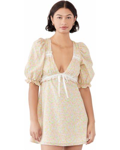 Кружевное платье мини - розовое For Love & Lemons