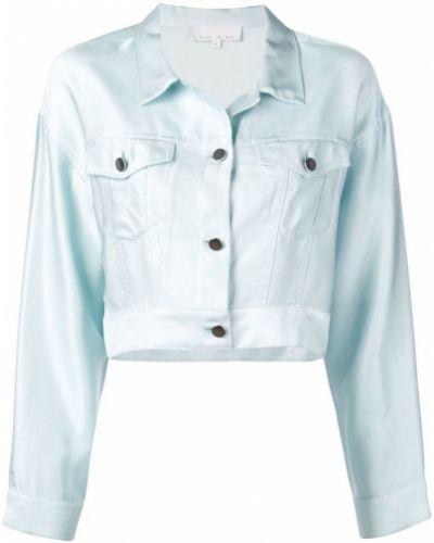 Синий классический пиджак с карманами с воротником Fleur Du Mal