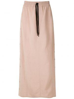 Ажурная прямая с завышенной талией юбка макси на пуговицах Uma   Raquel Davidowicz