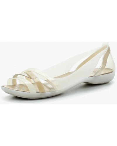 Белые сандалии Crocs