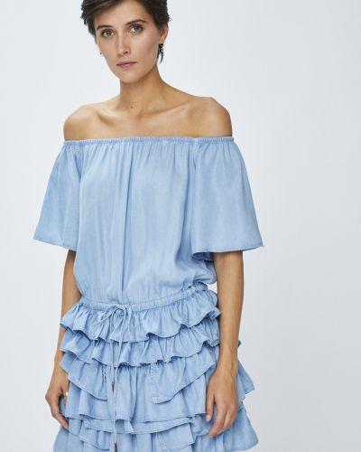 Платье мини однотонное свободного кроя Miss Sixty