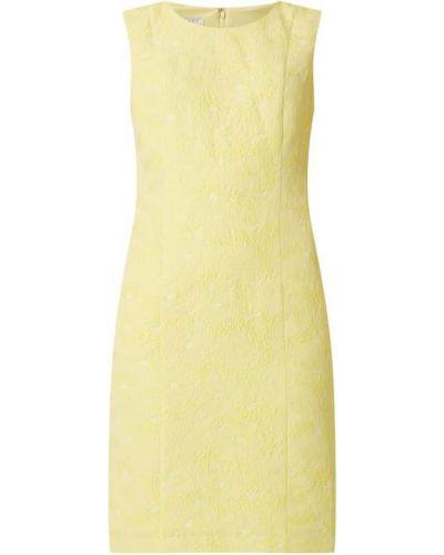 Żółta sukienka koktajlowa bez rękawów Apart Glamour