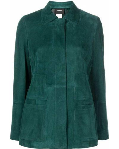 Зеленый пиджак с воротником Akris