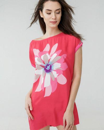 Пляжное платье весеннее розовое Ora