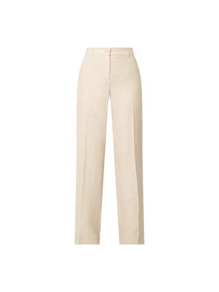 Białe spodnie zapinane na guziki Riani