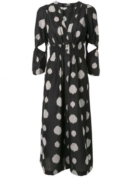 Платье на пуговицах с V-образным вырезом Kitx