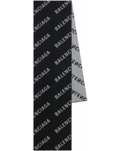 Кашемировый шарф - черный Balenciaga