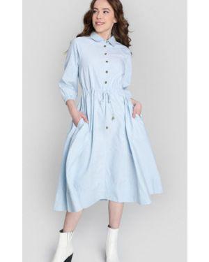 Платье миди на пуговицах с поясом Ostin