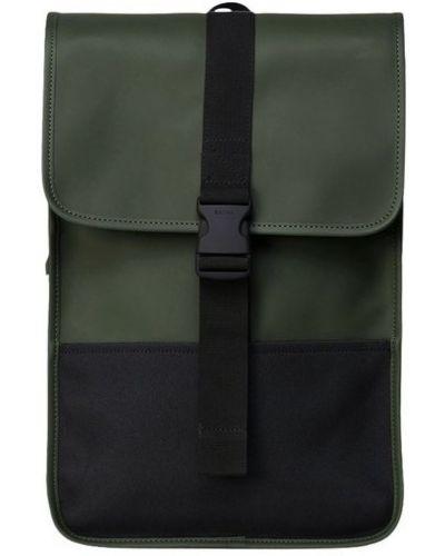 Czarny plecak sportowy elegancki z klamrą Rains