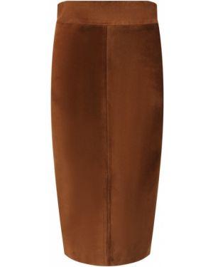 Юбка миди кожаная шелковая Tom Ford
