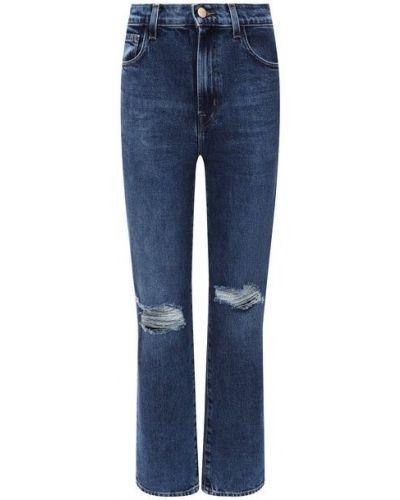 Хлопковые джинсы - синие J Brand