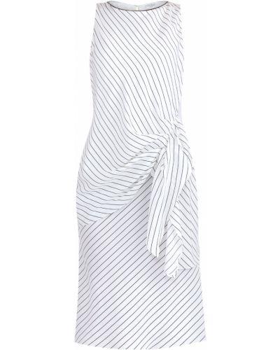 Платье с поясом с бисером шелковое Brunello Cucinelli