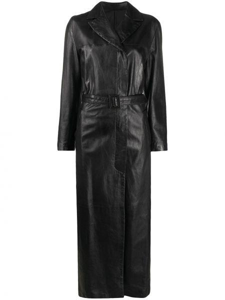 Długi płaszcz skórzany z kieszeniami A.n.g.e.l.o. Vintage Cult