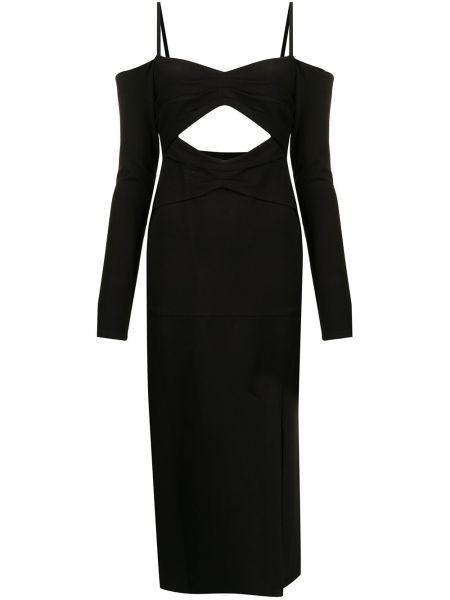 Черное платье макси длинное Alexis
