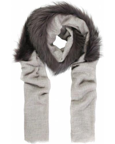 Серый платок с мехом Vintage Shades