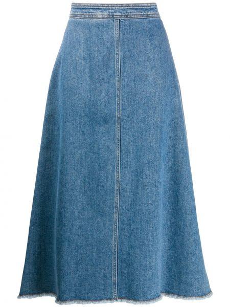 Джинсовая юбка на молнии Philosophy Di Lorenzo Serafini