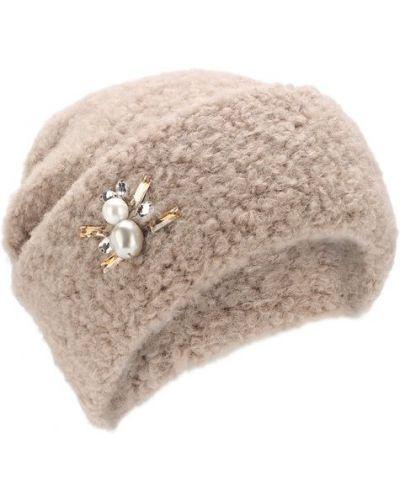 Бежевая шапка шерстяная Inverni