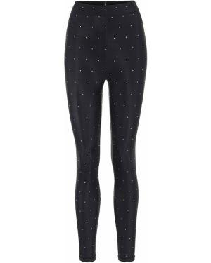 Спортивные черные нейлоновые спортивные брюки для фитнеса Adam Selman Sport