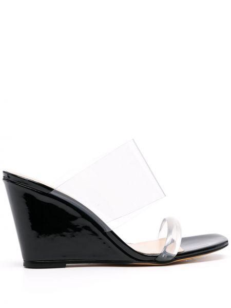 Czarne sandały na platformie skorzane Maryam Nassir Zadeh