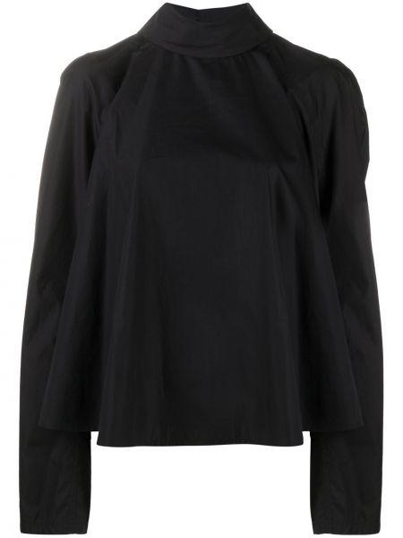 Bawełna prosto czarny koszula z kołnierzem Lemaire