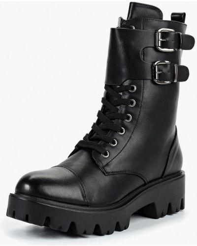 Кожаные ботинки осенние черные Martin Pescatore