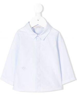 Niebieska koszula bawełniana z haftem Baby Dior